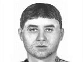 Podobizna hledaného útočníka, který oloupil několik mužů a nožem je pobodal