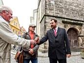 Začíná oprava Bílé věže v Hradci Králové. Klíče převzal Jan Souček ze stavební...