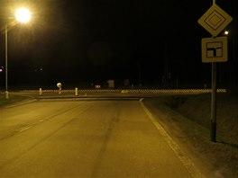 K�i�ovatka mezi �esk�m T��nem a Karvinou, kde se nehoda stala. (10. ��jna 2013)
