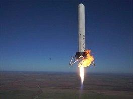 Grasshoper v1.0 b�hem sv�ho osm�ho, 77 sekund trvaj�c�ho  letu do v�ky 744...