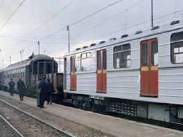 První vozy Ečs dorazily na Nádraží Krč 16. října 1973.