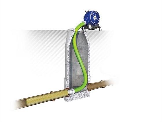 Bezvýkopová oprava kanalizace - sanační rukávec