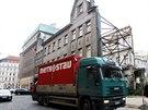 Stavební firma Metrostav zahájila demolici torza domu bývalé tiskárny v
