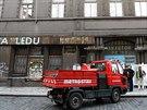 Stavební firma Metrostav zahájila demolici torza domu bývalé tiskárny v...