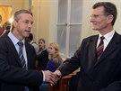 Bývalý pražský primátor Pavel Bém a jeden z obžalovaných v kauze opencard Ivan...