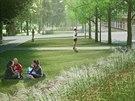 Vizualizace obnoven�ho parku ve Znojm�