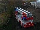 Požár zemědělského areálu v Šumné na Znojemsku, 21. 10. 2013