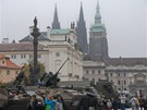 Armáda ukazuje na Hradčanském náměstí, jak se proměnila její technika a výzbroj