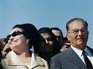 Josif Broz Tito a Jovanka Brozov� b�hem n�v�t�vy Egypta