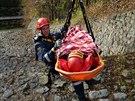Cvičení hasičů v Seči