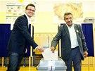 Ondřej Liška ze Strany zelených a Štefan Tišer ze Strany rovných příležitostí