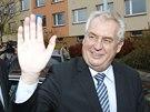 V pátek navečer odvolil v místě svého bydliště i prezident Miloš Zeman. (25.