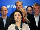 Členové vedení ODS byli z volebního neúspěchu zklamaní. (26. října 2013)