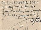 Poté, co Arnošt Lederer ze Švédska odletěl do Británie, aby vstoupil do armády...