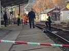 Vlak usmrtil ve vlakové stanici v Černošicích sedmnáctiletého chlapce.