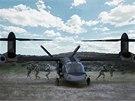 """""""Helikoptéra budoucnosti"""" podle projektu společností Bell Helicopter a Lockheed"""