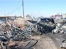Na kontroln�m stanovi�ti v syrsk�m m�st� Ham� se odp�lil sebevra�edn�...