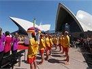 Australané slaví čtyřicáté výročí opery v Sydney. (20. října 2013)