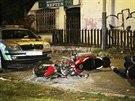Motorkář havaroval po honičce s policií. (27. října 2013)