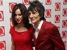 Ronnie Wood a jeho man�elka Sally (21. ��jna 2013)