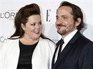 Melissa McCarthy a její manžel Ben Falcone (21. října 2013)