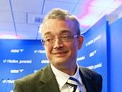 Marek Benda ve volebním štábu ODS. (26. října 2013)