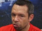 Pavel Horv�th po z�pasu Plzn� na Bayernu. (23. ��jna 2013)