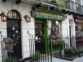 Údajný dům Sherlocka Holmese v londýnské Baker Street