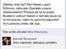 Zdněk Škromach čeili na Facebooku otázkám svých fanoušků. I jim ale o schůzce