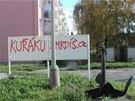 Neznámý vandal nasprejoval protikuřácké nápisy v devíti přerovských ulicích.