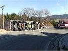 Silniční tah ze Šumperka do Jeseníku uzavřelo zhruba na dvě hodiny vyprošťování