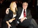 Kate�ina Zemanov� a jej� otec Milo� Zeman