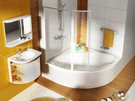 Akrylátová vana Newday má rovné dno pro bezpečí při sprchování.