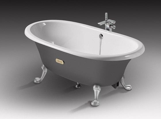 Pro litinové vany bývá typický retro styl.
