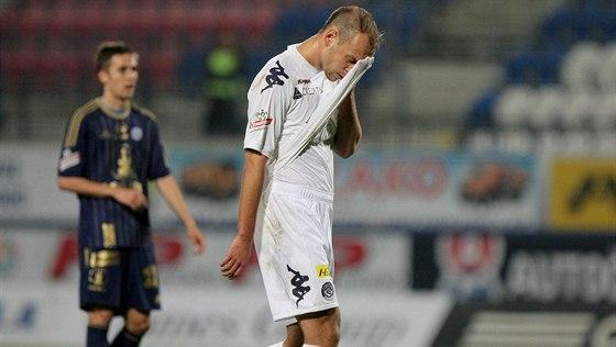 HOSTOVÁNÍ. Jakub Petr v dresu Slovácka, kde hostoval v sezoně 2013-14.