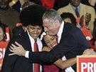 Nově zvolený starosta New Yorku Bill de Blasio se svými dětmi (6. listopadu...