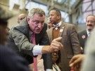 Demokratický kandidát na starostu New Yorku Bill de Blasio (3. listopadu 2013)