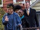 Demokratický kandidát na starostu New Yorku Bill de Blasio se svojí rodinou (5....