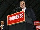 Demokratick� kandid�t na starostu New Yorku Bill de Blasio (5. listopadu 2013)