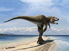 Vizualizace nově objeveného dinosaura, který dostal jméno Lythronax argestes