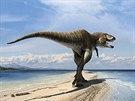 Vizualizace nov� objeven�ho dinosaura, kter� dostal jm�no Lythronax argestes