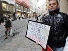 Před jednáním krajské ČSSD se sešlo několik podporovatelů Michala Haška.