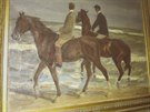 Malba německého malíře Maxe Liebermanna Dva jezdci na pláži.