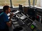 Řídící věž letiště ve Vodochodech, které by se v roce 2016 mohlo po modernizaci...