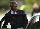 Kofi Annan na jednání o íránském jaderném programu v Ženevě (9. listopadu)