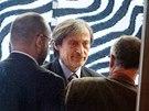 Martin Stropnický při jednání o povolební koalici hnutí ANO s KDU-ČSL v Centru