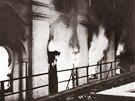 Během Křišťálové noci byly vypáleny desítky synagog.