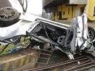 Vážná dopravní nehod na silnici mezi obcemi Žabokrky a Velké Petrovice na