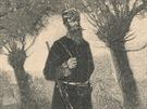 Rakouský četník na obchůzce.