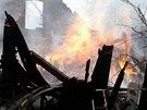 V Mikulovic�ch na Jesenicku vzplanul kv�li explozi propanbutanov�ch lahv�